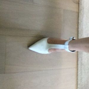 White ZARA shoes